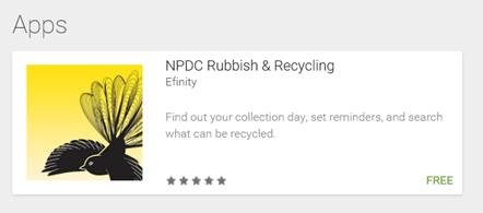 NPDC Rubbish Recycling App
